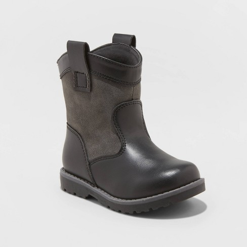 Toddler Boys' Hunter Fashion Boots - Cat & Jack™ Black - image 1 of 3
