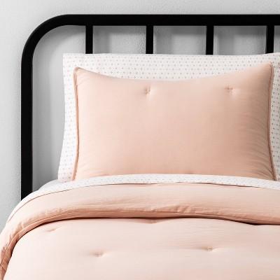 Twin Solid Comforter Spa Peach - Hearth & Hand™ with Magnolia