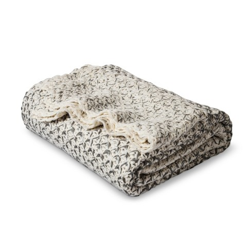 Ombre Knit Throw Gray - Threshold™ - image 1 of 2