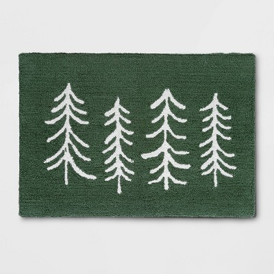 "30""x18"" Trees Kitchen Rug Green - Threshold™"