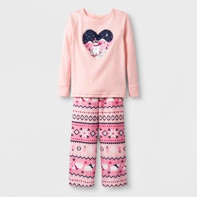 Baby 2pc Bear Pajama Set - Cat & Jack™ Pink 18M