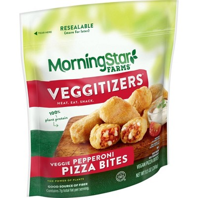 MorningStar Farms Vegan Frozen Veggitizers Veggie Pepperoni Pizza Bites - 9.5oz