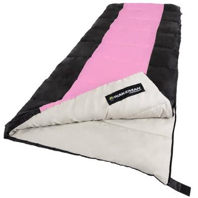 Wakeman 2-Season 50 Degrees Adult Sleeping Bags - Pink