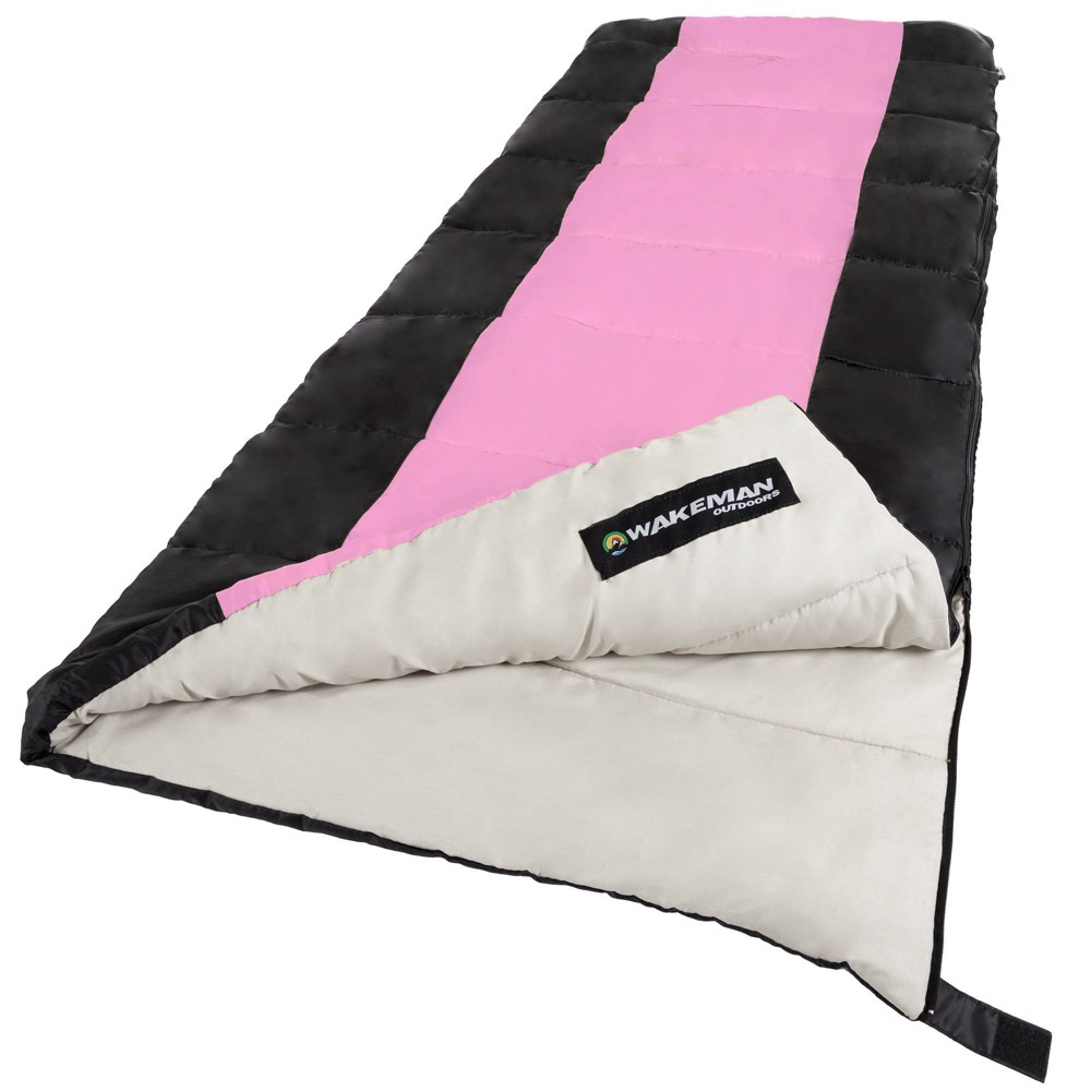 Image of Wakeman 2-Season 50 Degrees Fahrenheit Adult Sleeping Bags - Pink