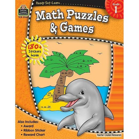 Ready-Set-Learn: Math Puzzles and Games Grd 1 - (Mixed media product) - image 1 of 1