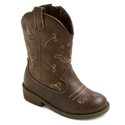 Toddler Girls' Chloe Classic Cowboy Western Boots Cat & Jack™ - Brown 5