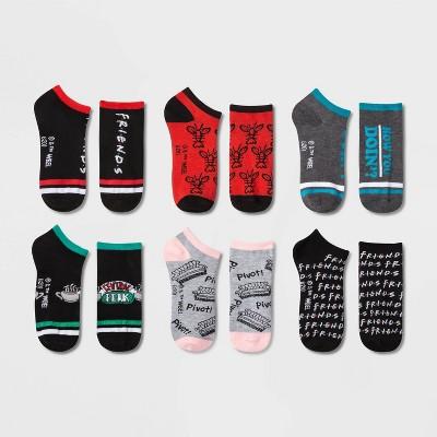 Women's Friends 6pk Low Cut Socks - Assorted Color 4-10
