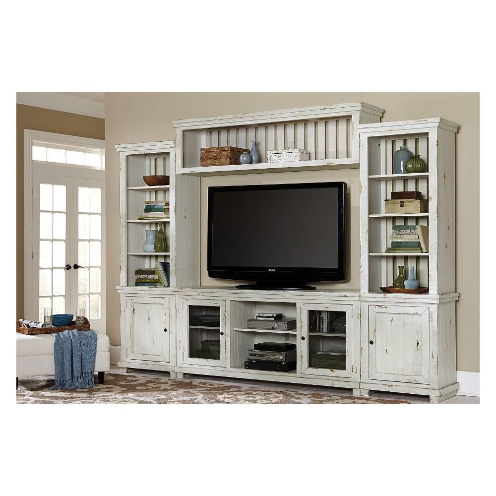 Willow Complete Wall Unit Distressed White - Progressive Furniture