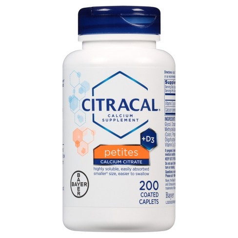 Citracal® Petites Calcium & Vitamin D3 Dietary Supplement Tablets - 200ct - image 1 of 1
