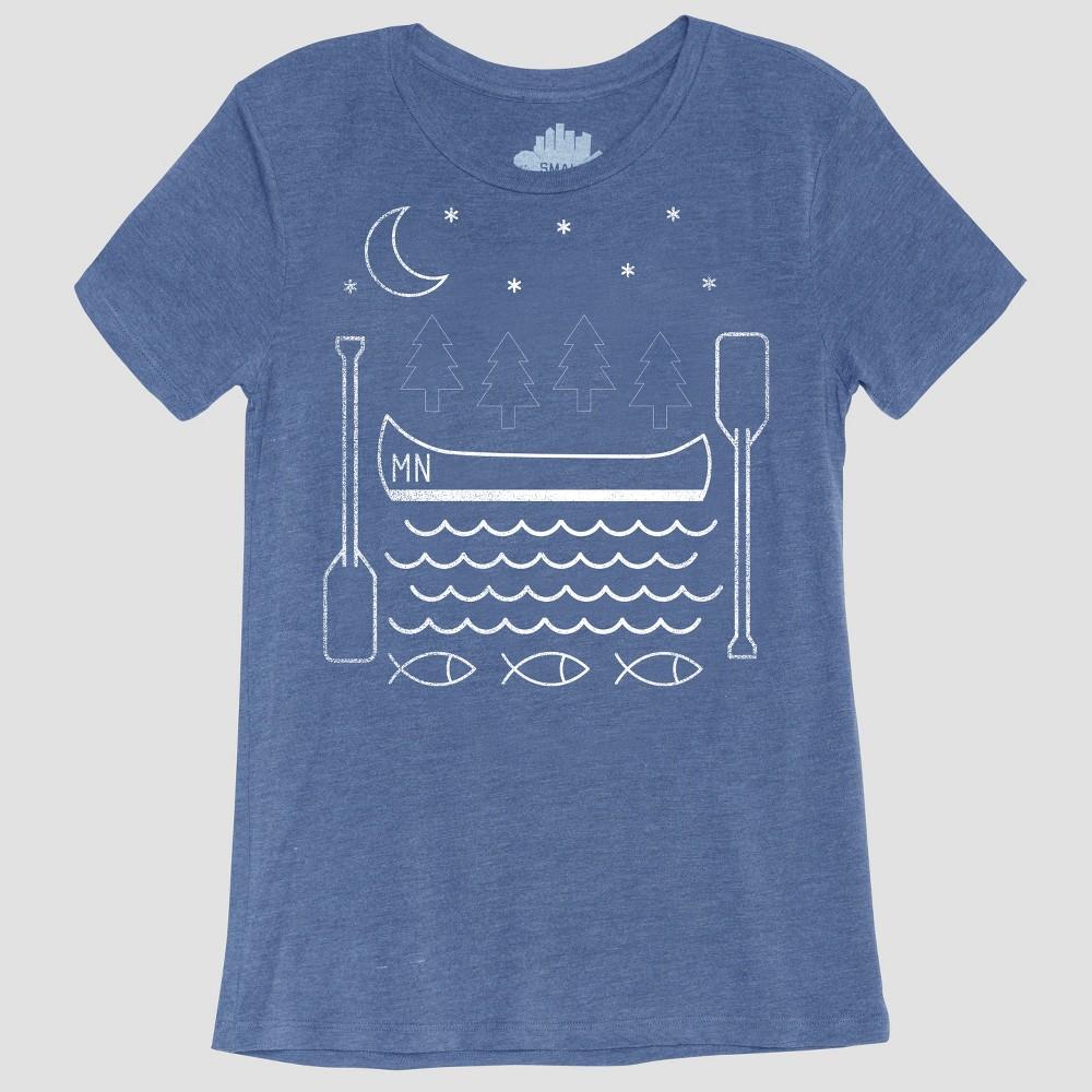 Women's Short Sleeve Summer Nights Graphic T-Shirt - Awake Blue XL