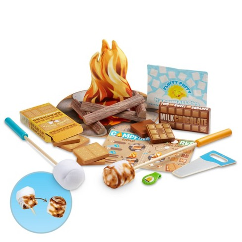 Melissa & Doug Let's Explore S'mores & More Campfire Play Set - image 1 of 4