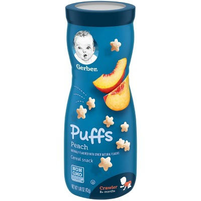 Gerber Puffs Peach Cereal Baby Snacks - 1.48oz