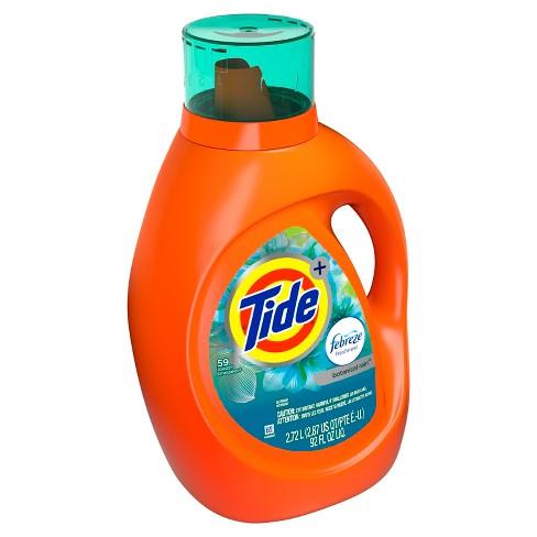 tide plus febreze botanical rain high efficiency liquid laundry