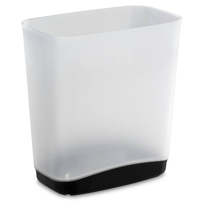 3.3gal Vanity Trash Can White with Color Accented Base - Room Essentials™