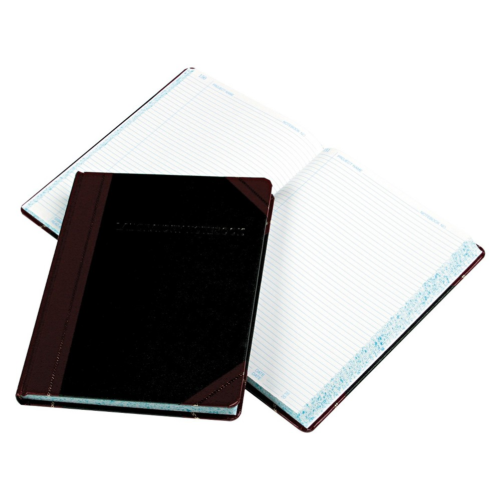 Image of Composition Notebook Wide Ruled Laboratory - Boorum & Pease, White Red Black