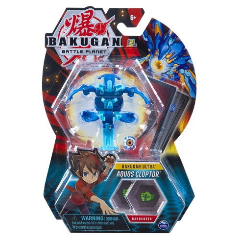 "Bakugan Ultra Aquos Cloptor 3"" Collectible Action Figure and Trading Card - image 1 of 4"
