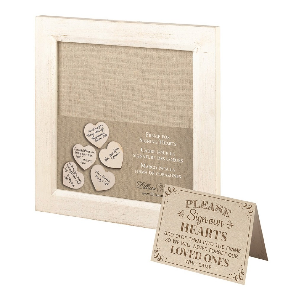 Image of Lillian Rose Guest Signing Hearts Frame, Multi-Colored