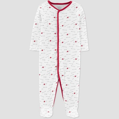 Baby Girls' Valentine's Day Sleep N' Play - little planet organic by carter's White 3M