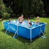 Summer Waves P30710300 9.8 x 6.5 Foot 29.5 Inch Deep Rectangular Small Metal Frame Above Ground Family Backyard Swimming Pool, Blue - image 2 of 2