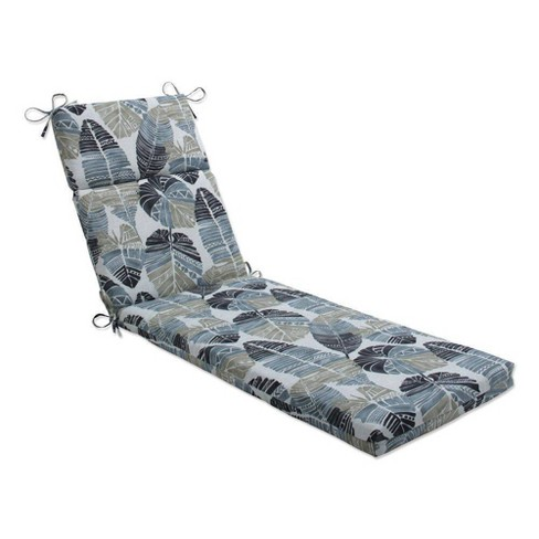"""72.5"""" x 21"""" Outdoor/Indoor Chaise Lounge Cushion Hixon Stone Black - Pillow Perfect - image 1 of 1"""