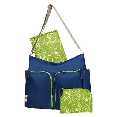 Orla Kiely Two Pocket Diaper Bag - Blue/Green