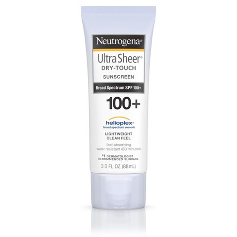Neutrogena Ultra Sheer Dry Touch Water Resistant Sunscreen - SPF 100 - 3 fl oz - image 1 of 5