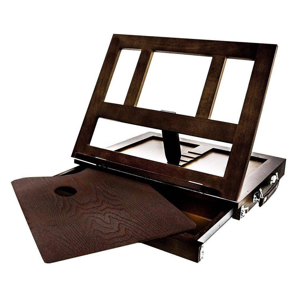 Image of Kingart Wooden Tabletop Easel w/Drawer - Espresso, Brown