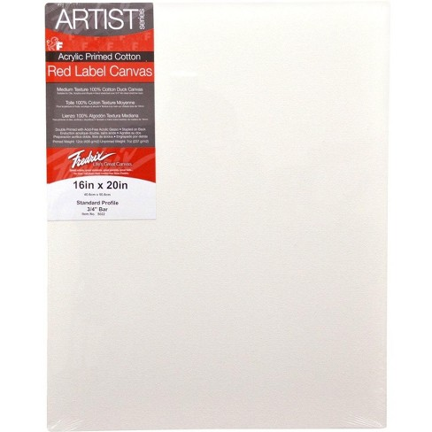 Fredrix Artist Series Stretched Canvas, 16 X 20 in, White - image 1 of 1