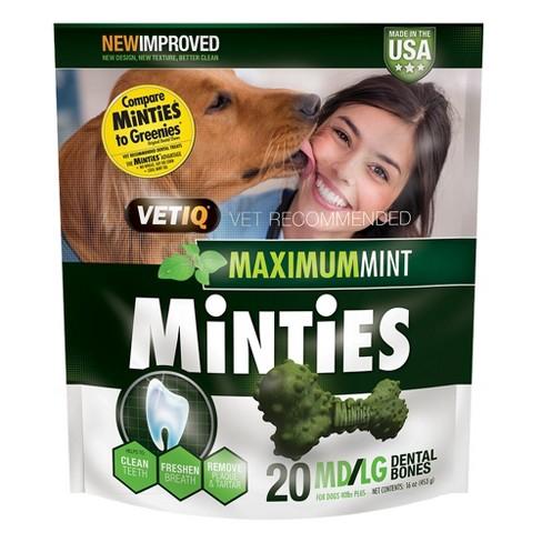 VetIQ Minties - Dental Dog Treat - Medium/Large - image 1 of 4