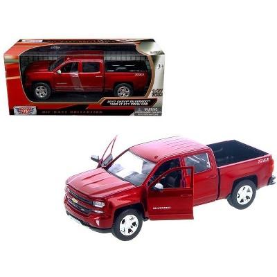 2017 Chevrolet Silverado 1500 LT Z71 Crew Cab Metallic Red 1/27 Diecast Model Car by Motormax