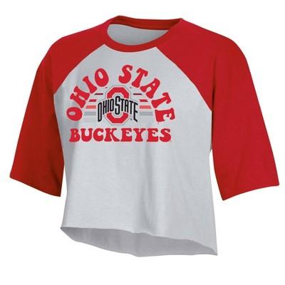 NCAA Ohio State Buckeyes Women's Short Sleeve Cropped T-Shirt