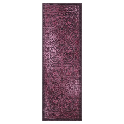 2'X6' Scroll Tufted Runner Purple - Maples
