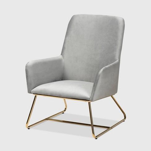 Sennet Velvet Upholstered Armchair - Baxton Studio - image 1 of 4