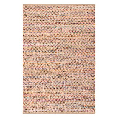 4'X6' Crosshatch Woven Area Rug Red/Natural - Safavieh