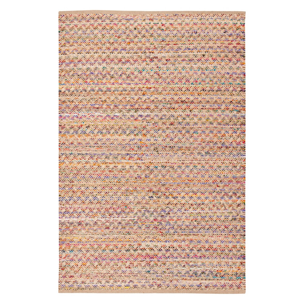 6'X9' Crosshatch Woven Area Rug Red/Natural - Safavieh