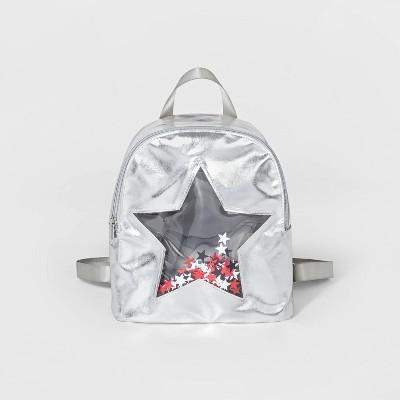 Toddler Girls' Start Cut Out Backpack - Cat & Jack™ Sliver 2T-5T