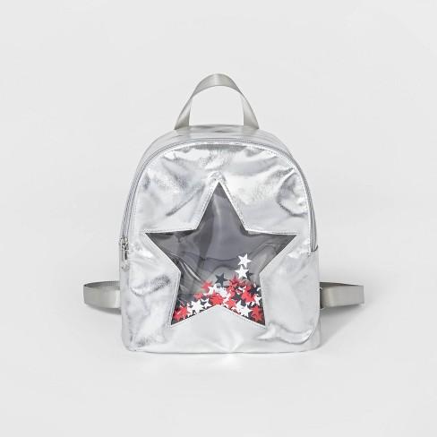 Toddler Girls' Start Cut Out Backpack - Cat & Jack™ Sliver 2T-5T - image 1 of 3