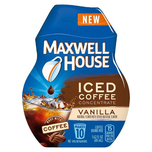 Maxwell House® Iced Coffee Concentrate Vanilla Beverage Mix Instant Coffee - 1.64oz - image 1 of 1