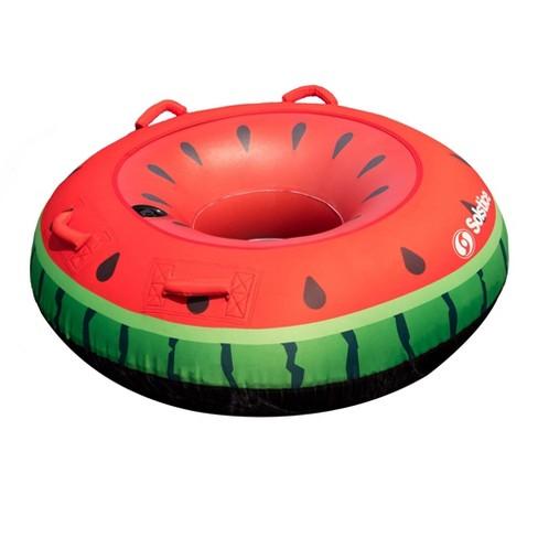Swimline Watermelon Inflatable Single Rider Lake Ocean Water Towable Tube Float - image 1 of 4