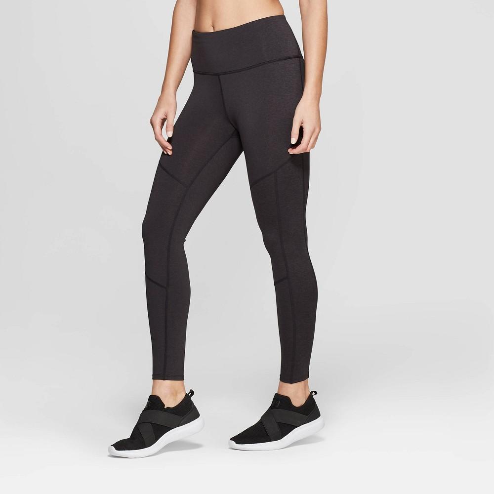 Women's Performance High-Waisted 7/8 Mini Striped Leggings - JoyLab Black XS