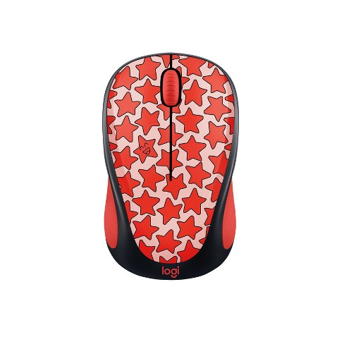 Logitech M317 Wireless Mouse - Red Stars ( 910-005306)