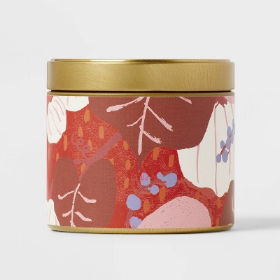 4oz Mini Grab Tin with Patterned Wrap Label Candied Pumpkin Candle - Opalhouse™