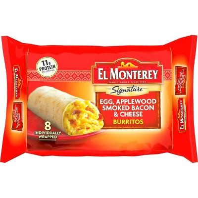 El Monterey Egg & Bacon Frozen Burritos - 36oz/8ct
