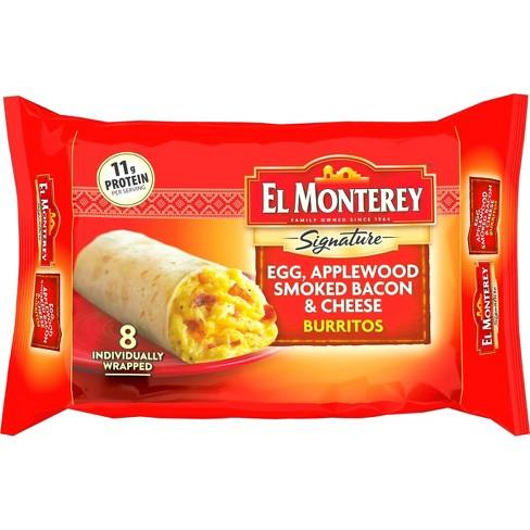 El Monterey Egg & Bacon Frozen Burritos - 36oz/8ct - image 1 of 3