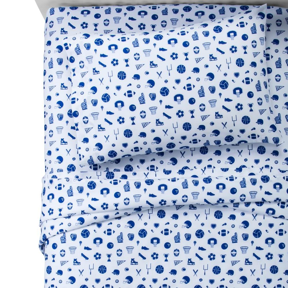 Sports Blue Dream 100% Cotton Sheet Set (Queen) - Pillowfort