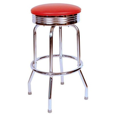 """24"""" Floridian Swivel Counter Height Barstool Red - Richardson Seating"""