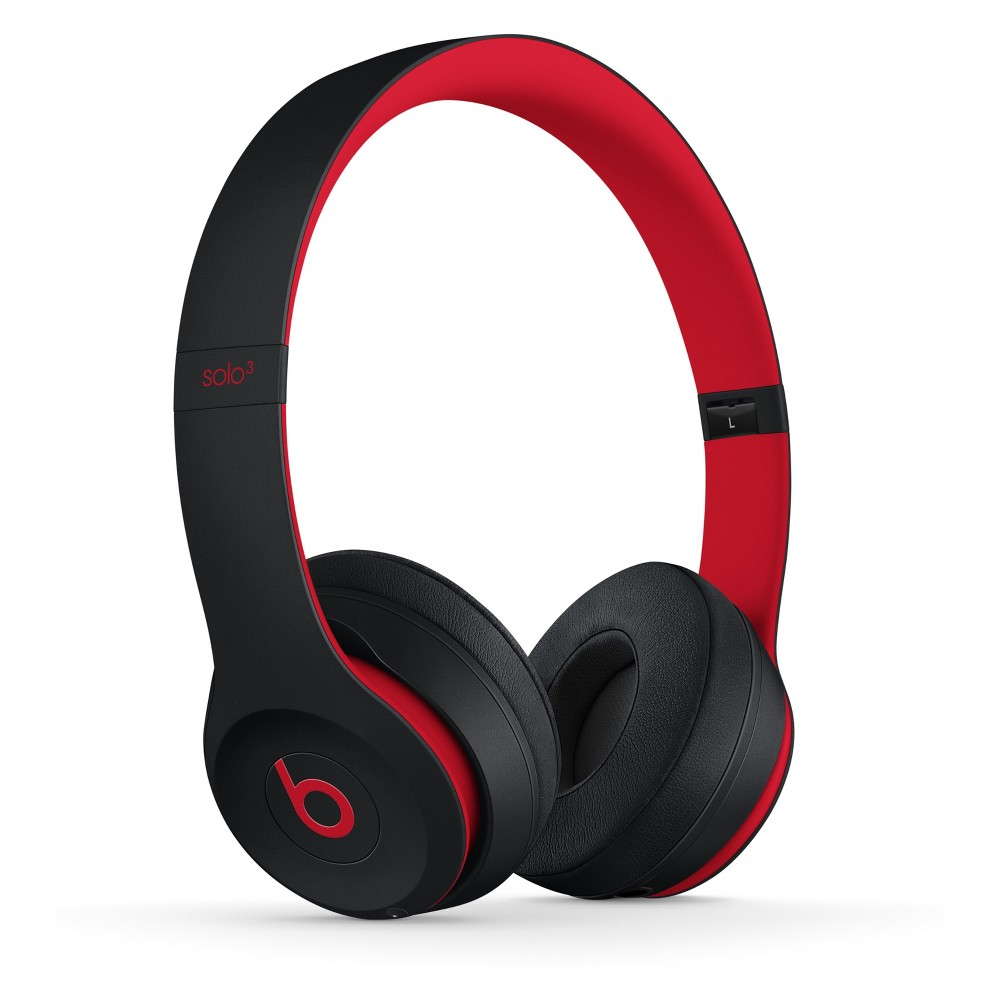 Beats Solo3 Decade Collection Wireless On-Ear Headphones - Defiant Black-Red (MRQC2LL/A)