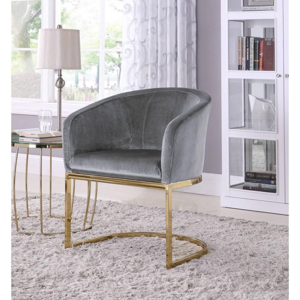 Livorno Accent Chair Gray Chic Home Design
