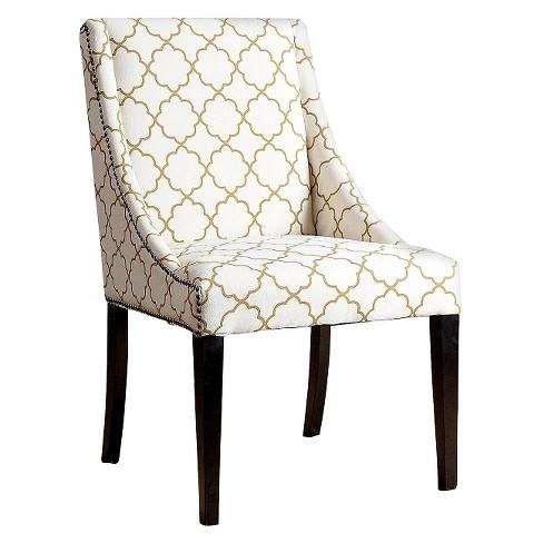 Sara Swoop Dining Chair - Gold Lattice - image 1 of 3