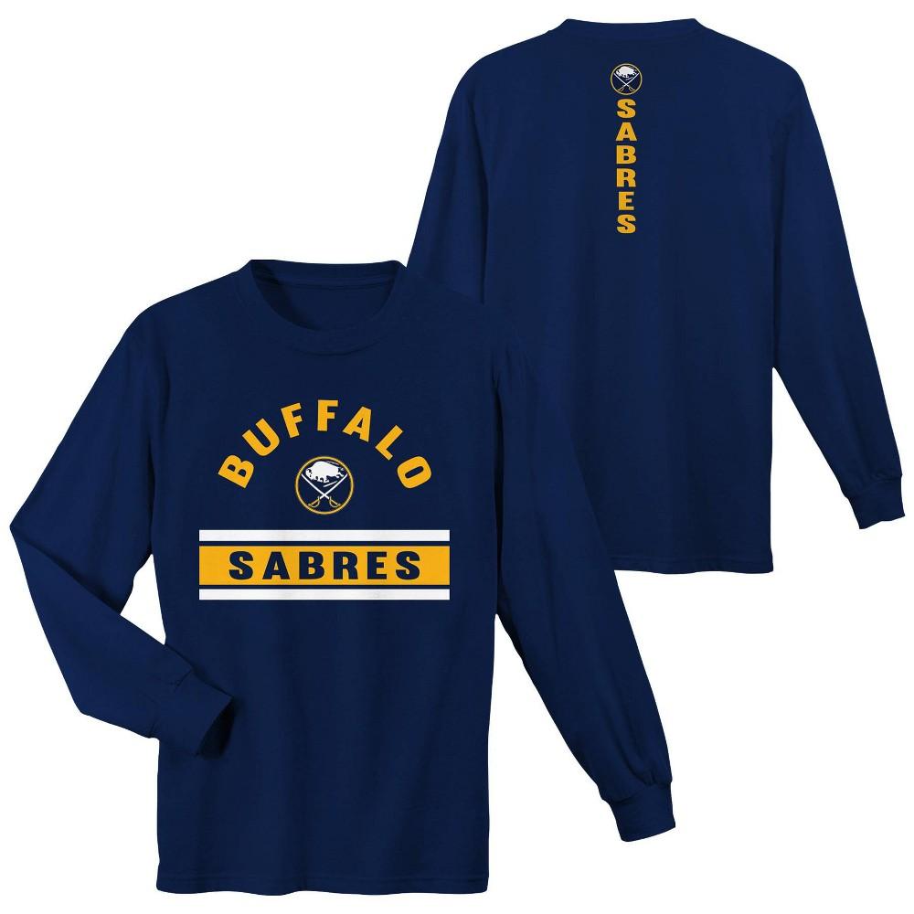 Buffalo Sabres Boys' Warming House Long Sleeve T-Shirt - L, Multicolored